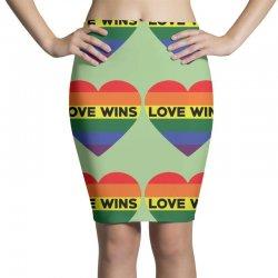 Love Wins Pencil Skirts   Artistshot