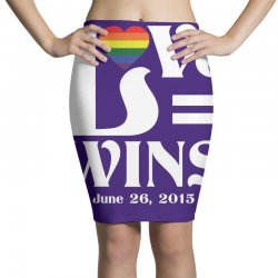 Love Wins Pencil Skirts | Artistshot