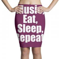 Music Eat Sleep Repeat Pencil Skirts | Artistshot