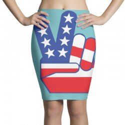Peace Sign Hand Pencil Skirts | Artistshot