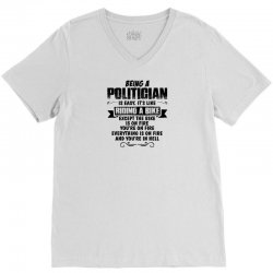 being a politician copy V-Neck Tee | Artistshot