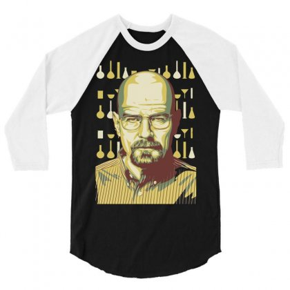 Breaking Bad Lab 3/4 Sleeve Shirt Designed By Mdk Art