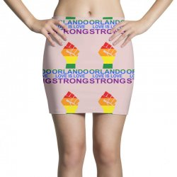 Love Is Love, Orlando Strong Mini Skirts | Artistshot