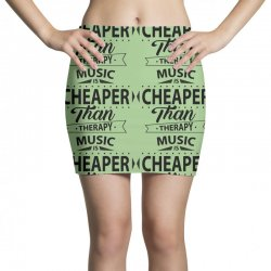 Music Is Cheaper Than Therapy Mini Skirts | Artistshot