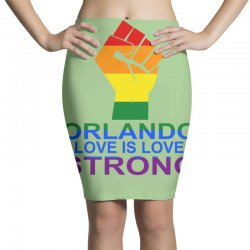 Love Is Love, Orlando Strong Pencil Skirts | Artistshot