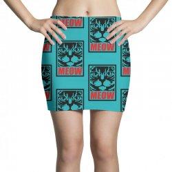 funny cat meow Mini Skirts   Artistshot