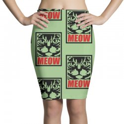 funny cat meow Pencil Skirts   Artistshot