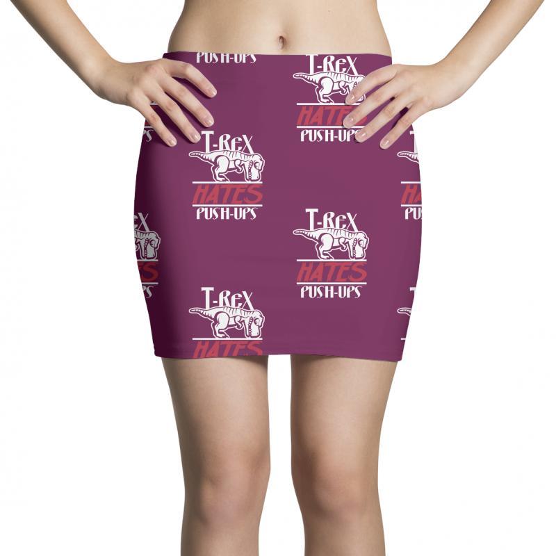 566221efc Custom T Rex Hates Push Ups Funny Lazy Mini Skirts By Tonyhaddearts -  Artistshot