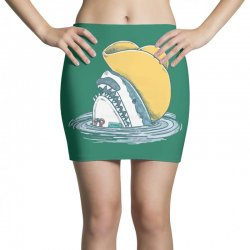 funny hat shark Mini Skirts   Artistshot