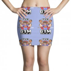 funny gym sloth the goonies fitness t shirt vectorized Mini Skirts | Artistshot