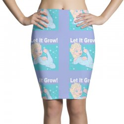 funny gym elsa let it grow frozen fitness Pencil Skirts | Artistshot