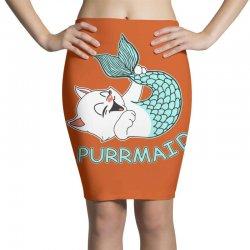 funny purr maid cat mermaid Pencil Skirts | Artistshot