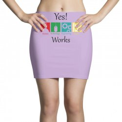 yes work science Mini Skirts   Artistshot
