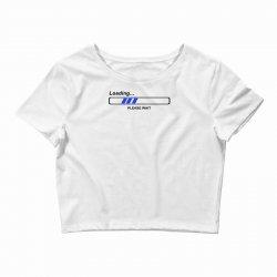 coole geek t shirts loading nerd admin computer pc big bang theory fun Crop Top | Artistshot