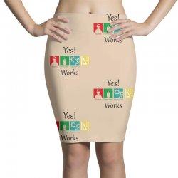 yes work science Pencil Skirts   Artistshot