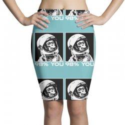 funny monkey astronomy Pencil Skirts | Artistshot