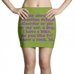 Funny ADHD quote Mini Skirts | Artistshot