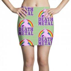 Funny Death Metal Unicorn Rainbow Mini Skirts | Artistshot