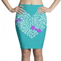 love gym pink dumble Pencil Skirts | Artistshot
