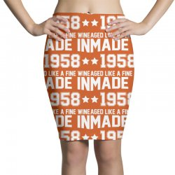 Made In 1958 Aged Like A Fine Wine Pencil Skirts | Artistshot