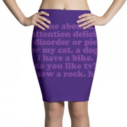 Funny ADHD quote Pencil Skirts | Artistshot