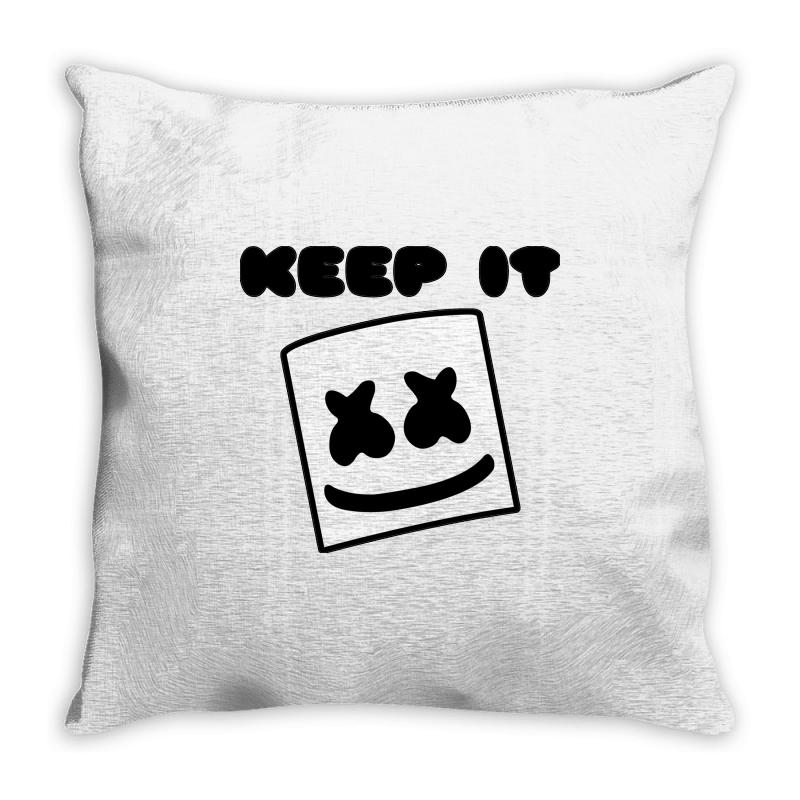 e0c9a4705e9f64 Custom Marshmello Keep İt ! Throw Pillow By Mdk Art - Artistshot