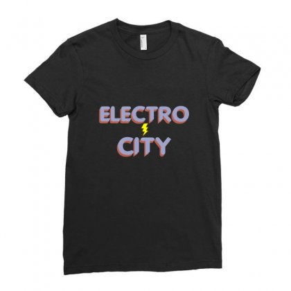 Electro City Ladies Fitted T-shirt Designed By Wisnuta1979