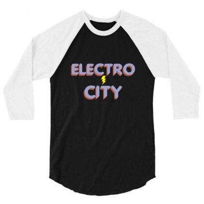 Electro City 3/4 Sleeve Shirt Designed By Wisnuta1979