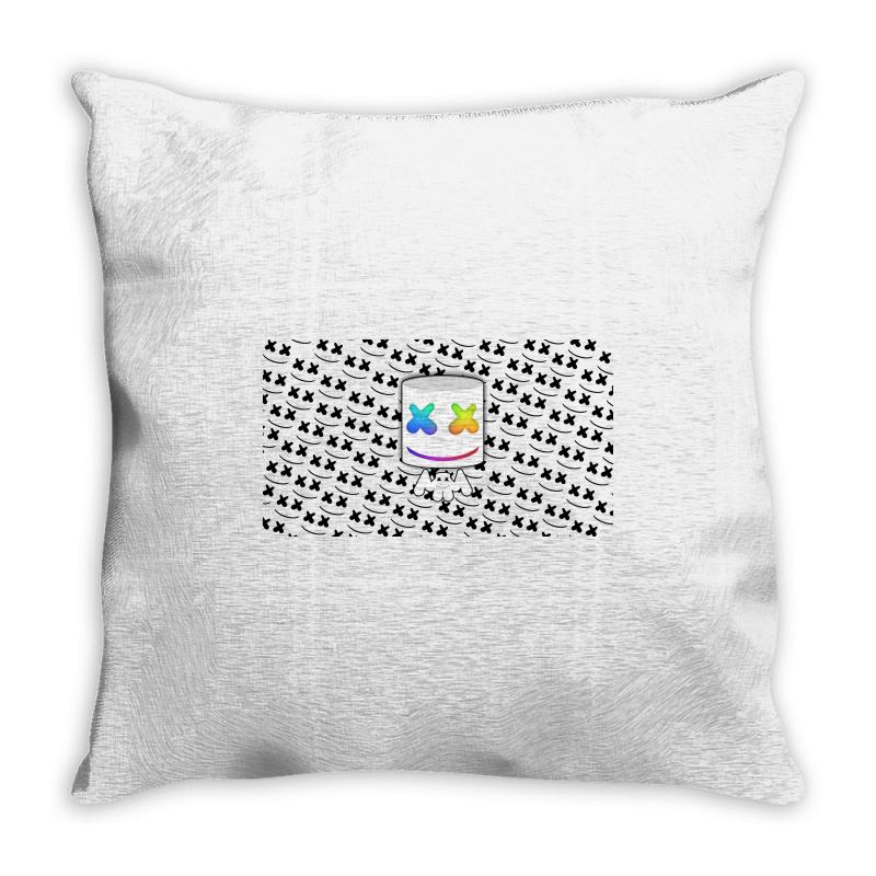 d6a3666ee96573 Custom All About Marshmello Throw Pillow By Mdk Art - Artistshot