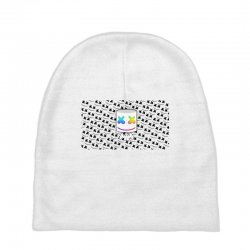 d72e1ef254f0a Custom All About Marshmello Baby Beanies By Mdk Art - Artistshot