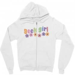 geek girl daisies Zipper Hoodie | Artistshot