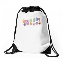 geek girl daisies Drawstring Bags | Artistshot