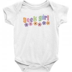 geek girl daisies Baby Bodysuit | Artistshot