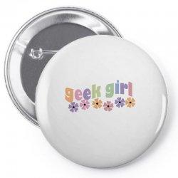 geek girl daisies Pin-back button | Artistshot