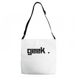 geek t shirt Adjustable Strap Totes | Artistshot