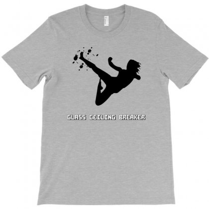 Geek Girl Glass Ceiling Breaker T-shirt Designed By Wisnuta1979