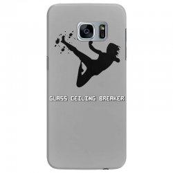 geek girl glass ceiling breaker Samsung Galaxy S7 Edge Case | Artistshot