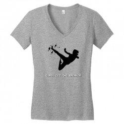 geek girl glass ceiling breaker Women's V-Neck T-Shirt | Artistshot