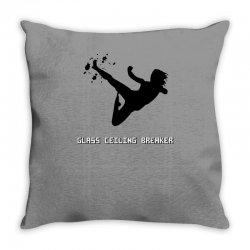 geek girl glass ceiling breaker Throw Pillow | Artistshot