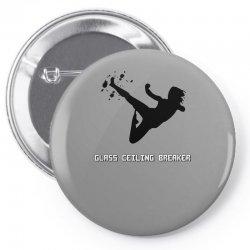 geek girl glass ceiling breaker Pin-back button | Artistshot