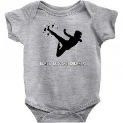 geek girl glass ceiling breaker Baby Bodysuit | Artistshot