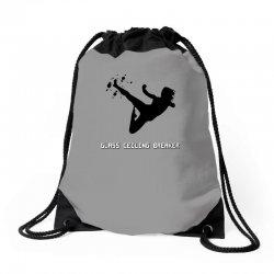 geek girl glass ceiling breaker Drawstring Bags | Artistshot