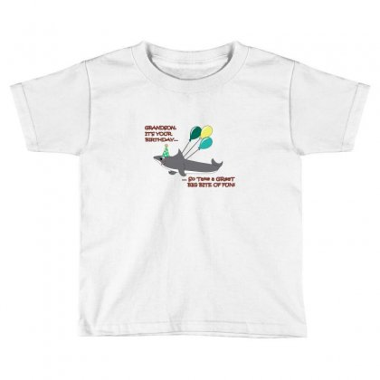 Grandson Big Shark Bite Happy Birthday Toddler T-shirt Designed By Wisnuta1979