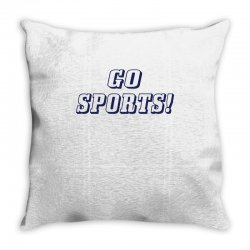 go sports! Throw Pillow | Artistshot