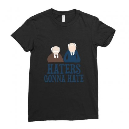 Haters Gonna Hate1 Ladies Fitted T-shirt Designed By Wisnuta1979