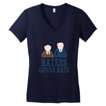 Haters Gonna Hate1 Women's V-neck T-shirt Designed By Wisnuta1979