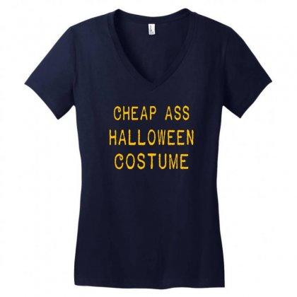 Halloween Costume Women's V-neck T-shirt Designed By Wisnuta1979