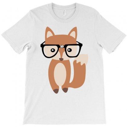 Hipster Baby Fox W Glasses T-shirt Designed By Wisnuta1979
