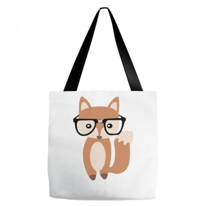 Hipster Baby Fox W Glasses Tote Bags Designed By Wisnuta1979