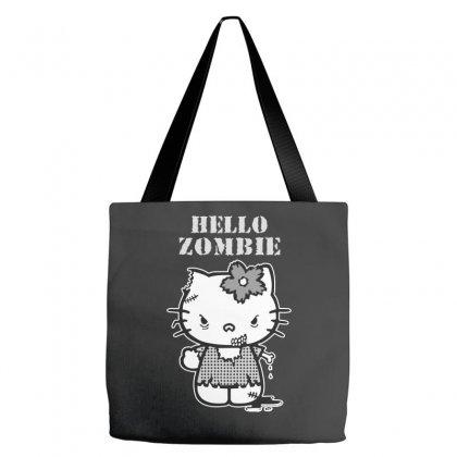 Hello Zombie Tote Bags Designed By Wisnuta1979